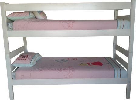 Less is more is the slogan for this bunk bed. It is simple yet makes a statement