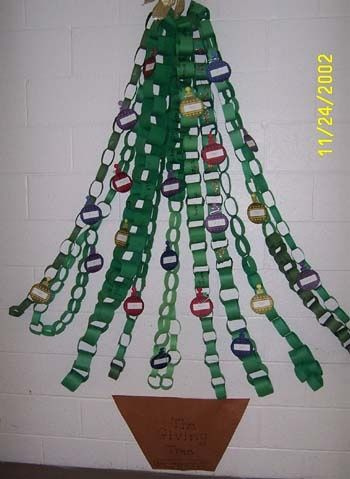 Christmas Board I D Have Each Child Make A Chain With A Specific Number Of Loops Education