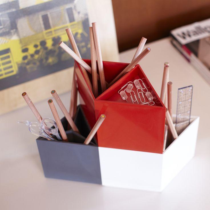 Rhombins Desktop Storage #desk #organizer #pens #pencils #modular by Eric Pfeiffer