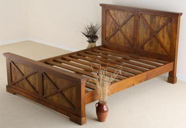 cheap wooden bed frames king size