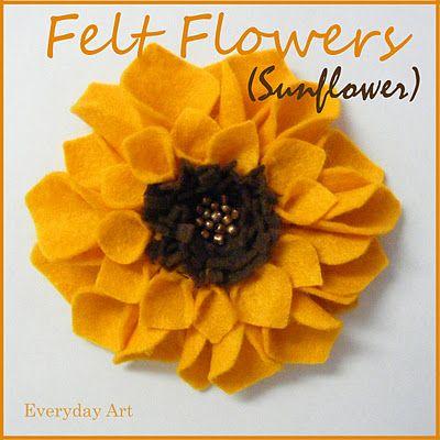 Free Felt Patterns and Tutorials: Free Felt Tutorial > Sunflowers in Autumn
