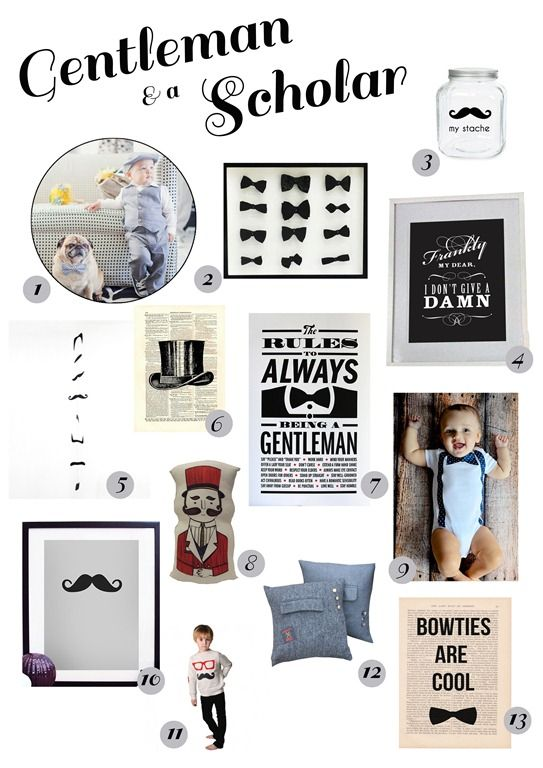 my stache jar, framed bow ties, suspender and bowtie onesie