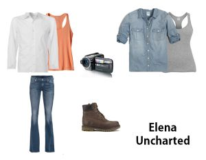 Dress like Elena from the Uncharted series on Playstation.