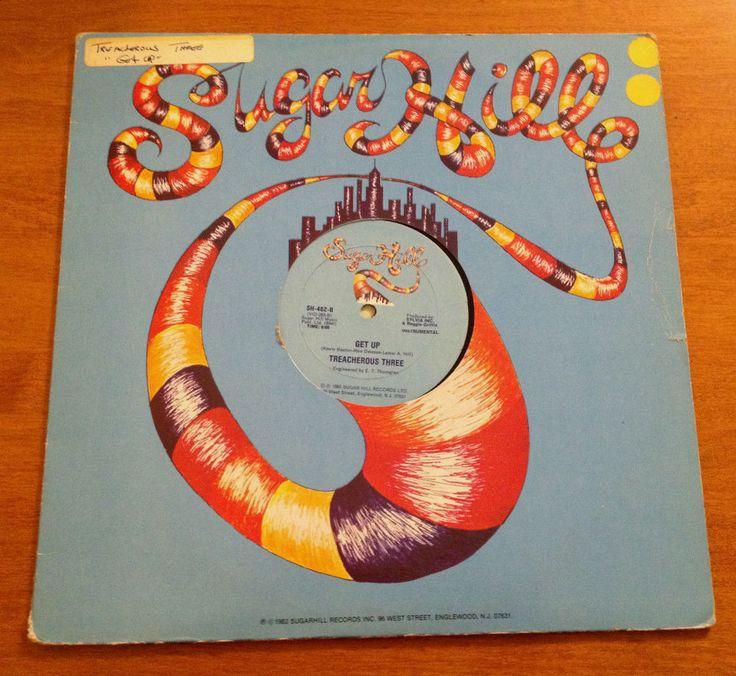 Treacherous Three Get Up 12 Inch Vinyl Record 1983 Sugar Hill SH-462 Hip-Hop #EastCoastInstrumentalJazzyHipHopOldSchool