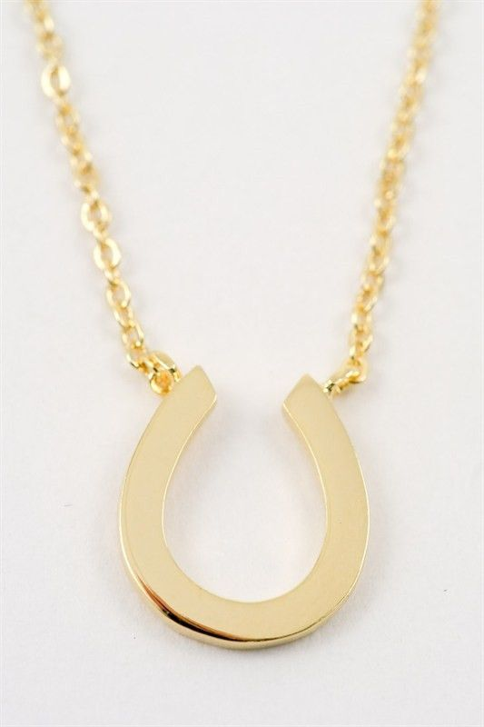 手机壳定制top online boutiques uk Horse Shoe Necklace  Gold