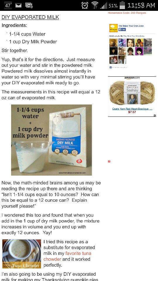 DIY Evaporated Milk