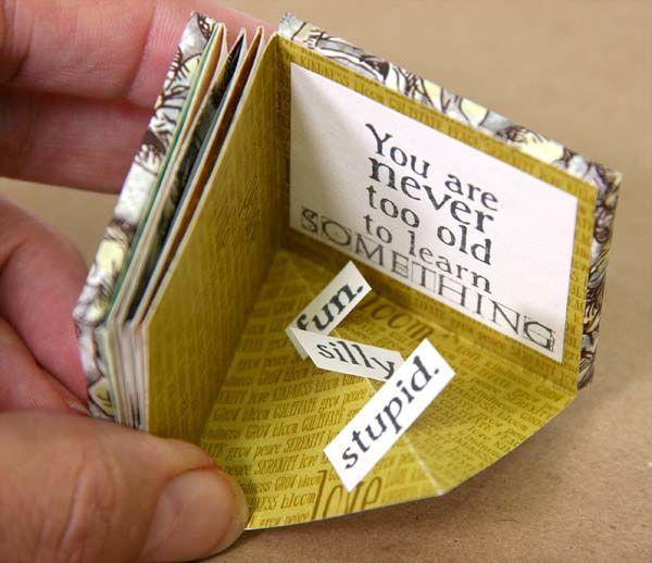 folded quad print 2x2 mini album #clubscrap