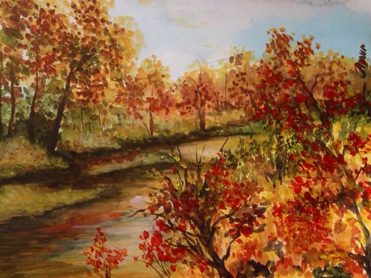 Watercolor autumn