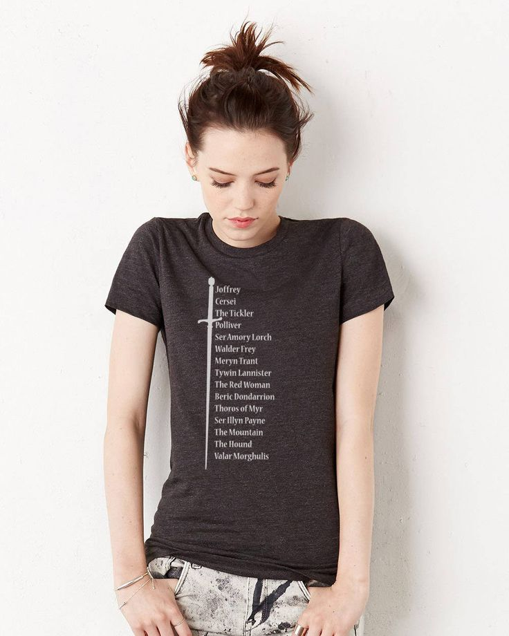 Excited to share the latest addition to my #etsy shop: Arya Stark's List of Names, Game of Thrones, Ladies' Triblend, Ladies' Short Sleeve T-shirt http://etsy.me/2BNu24E #clothing #women #tshirt #fans #popular #gift #wife #girlfriend #gameofthrones