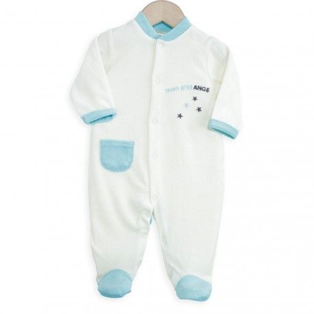 Apportez de la douceur à bébé dès sa naissance avec ce pyjama bébé garçon tout doux. En plus ce pyjama est très facile à enfiler, idéal et pratique quand bébé est tout petit.