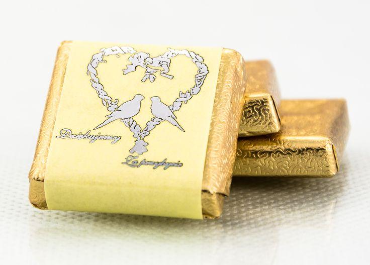 Zapraszamy do zakupu naszej czekoladki ślubnej, podziękowania dla gości weselnych.