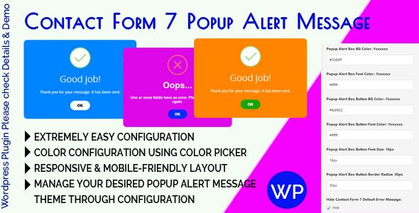 Contact Form 7 Popup Alert Message Nulled | Nulled Wordpress