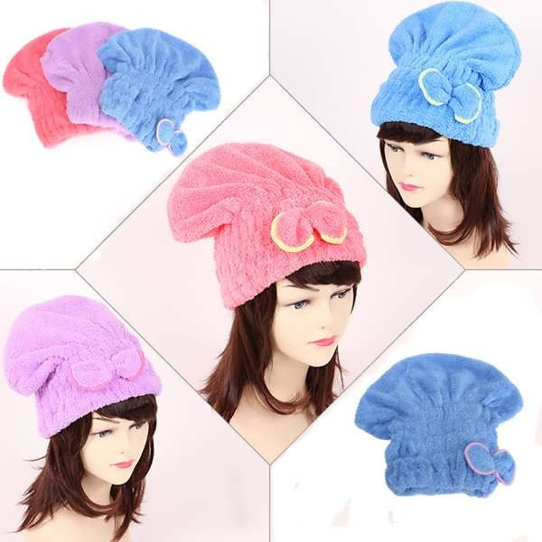 Microfiber Super Absorbent Hair Drying Towel Bowknot Magic Dry Hair Cap  What does include #goodbuy:  Enjoyable shopping at cheapest prices Best quality goods 24/7 support & easy communication 1 day products dispatch from warehouse Fast & reliable shipment (7-25 business...