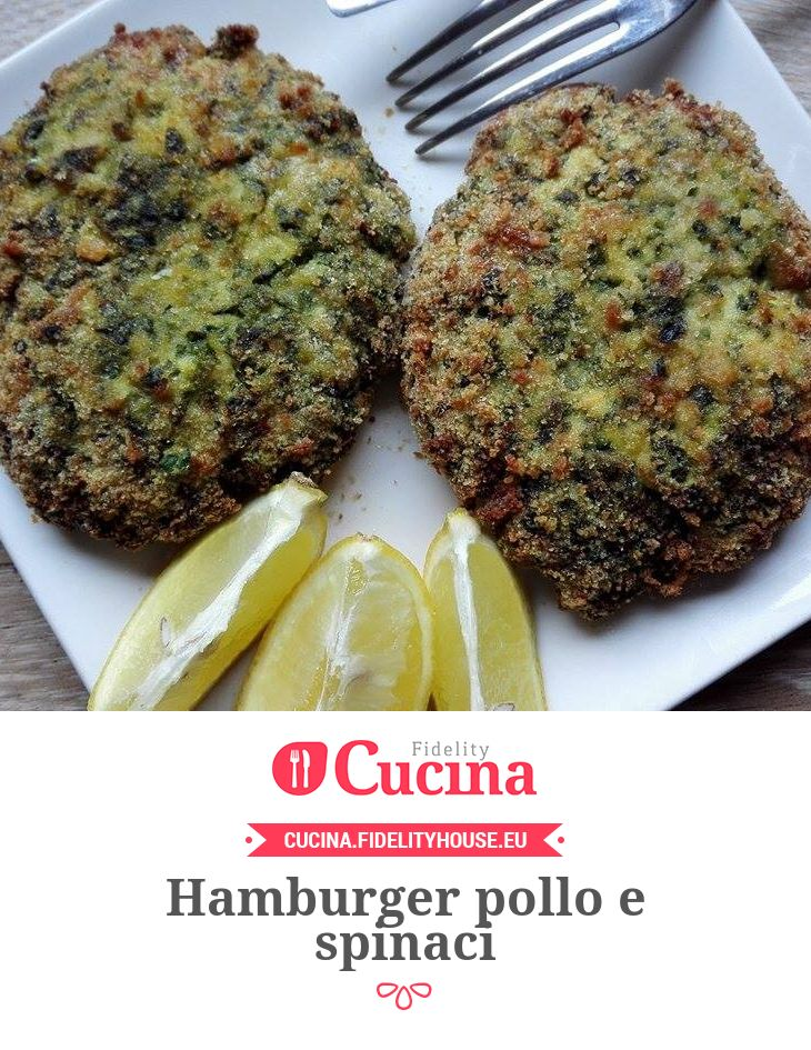 Hamburger pollo e spinaci