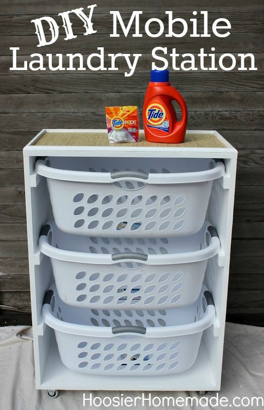 This DIY mobile laundry station makes it easier and fun for your little racers to reach, sort, and add their clothes!