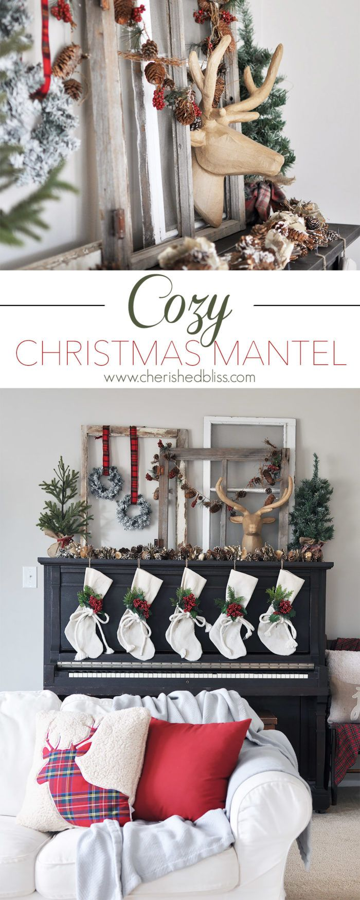 DIY Christmas Mantel and Decor Ideas 7