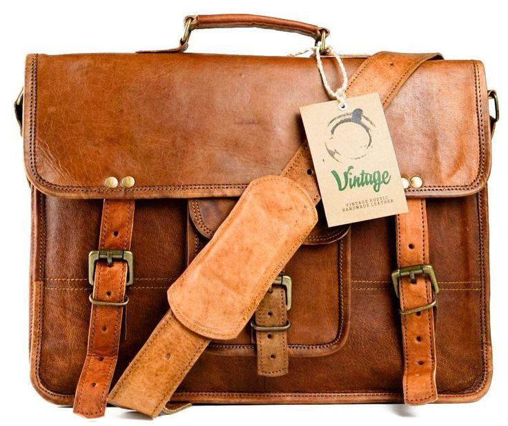 Vintage Leather Darwin Satchel Briefcase - Vintage Leather