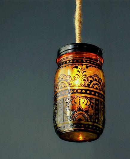 How to Make Mason Jar Moroccan Lanterns  http://www.ananasa.com/blog/how-to-make-mason-jar-moroccan-lanterns/