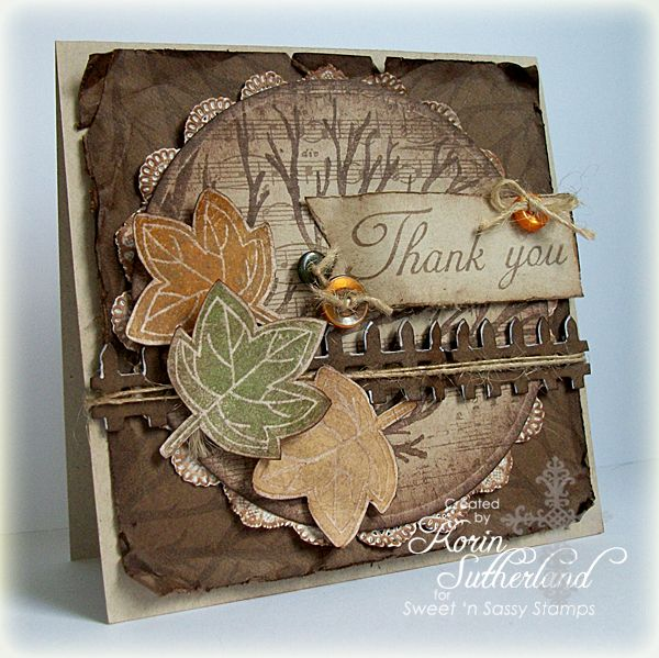 Fall Thank You SC397 by sweetnsassystamps - Cards and Paper Crafts at Splitcoaststampers