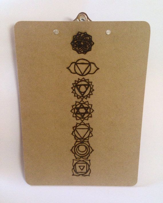 Chakras Clipboard  Custom Clipboard by SCBoutique123 on Etsy