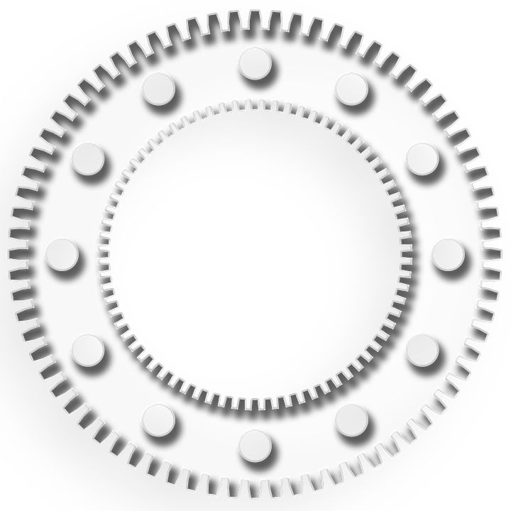 Ząb, Bieg, Koło Łańcuchowe, Symbol, Dystrykt, Koła