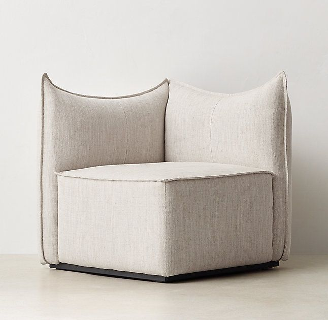 RH TEEN's Peyton Corner Chair:Deconstruction site. Bold seams and blocky shapes give our overstuffed lounger a decidedly relaxed personality. Amply padded for substantial support, the modular pieces combine to customize as you please.