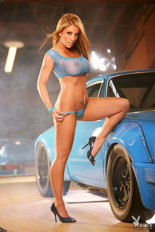 cars with hot naked models