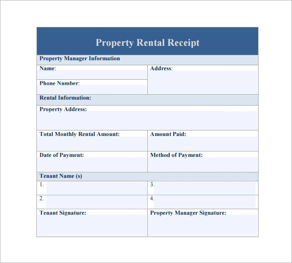 13 Rent Receipt Templates Free Printable Word Excel Pdf Receipt Template Templates Rent