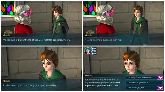Merula Rejection Scene You Will Get This Scene If You Take Her To The Ball Choose Not To Date Her Hphogwa Hogwarts Mystery Harry Potter Hogwarts Hogwarts