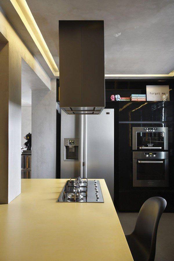 Apartament contemporan conceput special pentru DJ: Casa FJ, Brazilia : Fresh Home