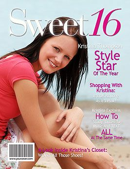 Unique Sweet 16 Gift - Personalized Fake Magazine Covers from YourCover