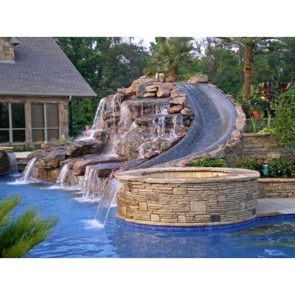Mansion Luxury Pools With Waterfalls: 51 Best Images About Water Slides On Pinterest