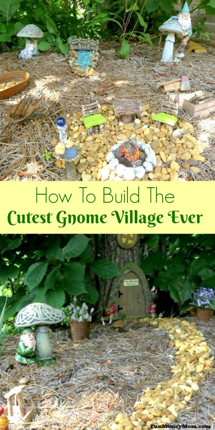 Want to create the best gnome village ever? With a few craft materials and a little creativity, you can have a fun little gnome home in your own back yard.