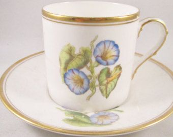 Wedding Antique Demitasse Cup/SaucerBlue and by TeaCupsFromSharon