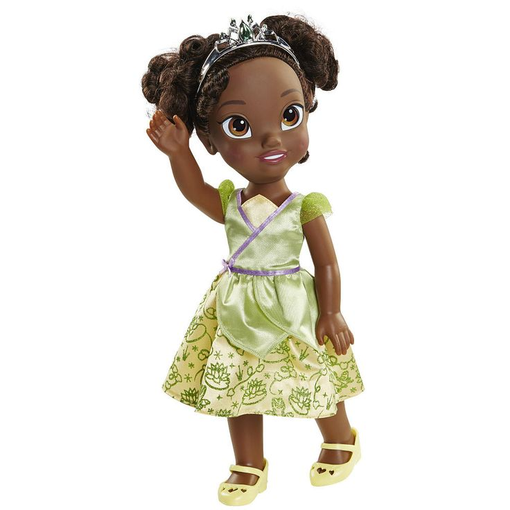Charming Princess Tiana dazzles in her royal gown and tiara.<br><br>The Disney Princess Royal Toddler Doll - Tiana Features:<br><ul><li>Tiana dazzles in her royal gown and tiara</li><br><li>Join her on her adventures as she dares to dream big</li><br><li>Includes: Doll, tiara, gown, shoes</li><br><li>Ages 3 and up</li></ul><br><br>Bring your child's favorite...