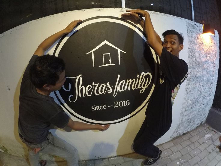 logo design mural wall