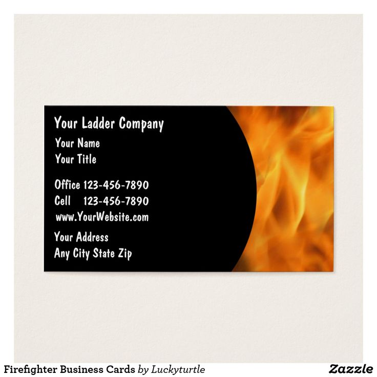 Famous Firefighter Business Cards Gallery - Business Card Ideas ...