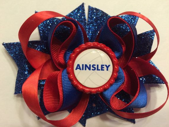 Personalized Volleyball Hair Bow