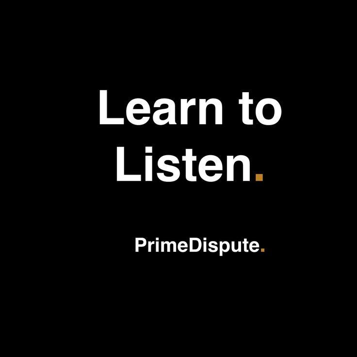 Learn to listen - Alternative Dispute Resolution