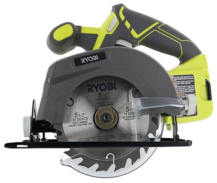 Ryobi Circular Saw 18v Lithium Ion Cordless 5 1 2 4 700 Rpm Battery Not Include Ryobi Mini Circular Saw Cordless Circular Saw Electric Saw