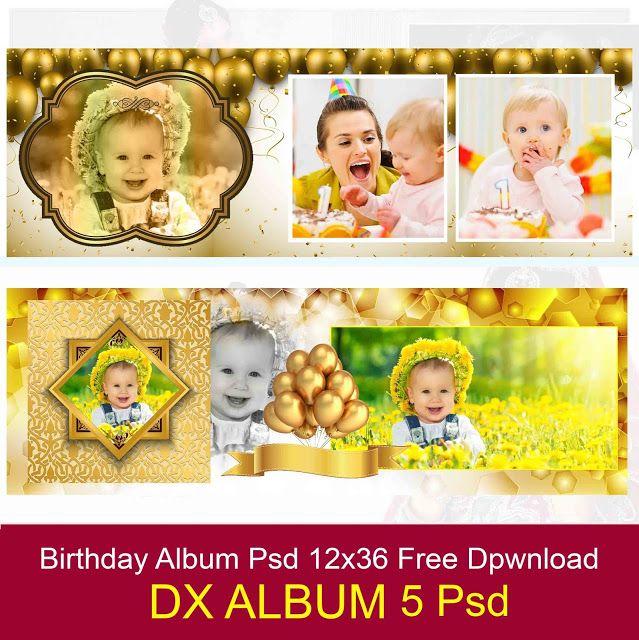 Birthday Golden Backgrounds Album 12x36 Psd Template Free Download Karizma Album Design 12x36 Psd Wedd Psd Template Free Psd Free Photoshop Psd Free Download