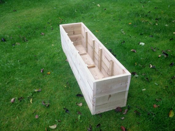Extra Large Wooden Planters / Raised Beds  by HomeAndGardenDesigns