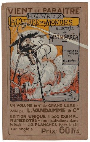 Henrique Alvim Corrêa, The War of the Worlds, L'Vandamme edition announcement poster, 1906
