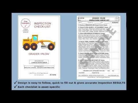 """""""Grader / Plow Inspection Checklist #2-016 The Checker"""" http://hubs.ly/y09VJm0 by @youtube"""