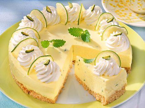 Lime quark cake
