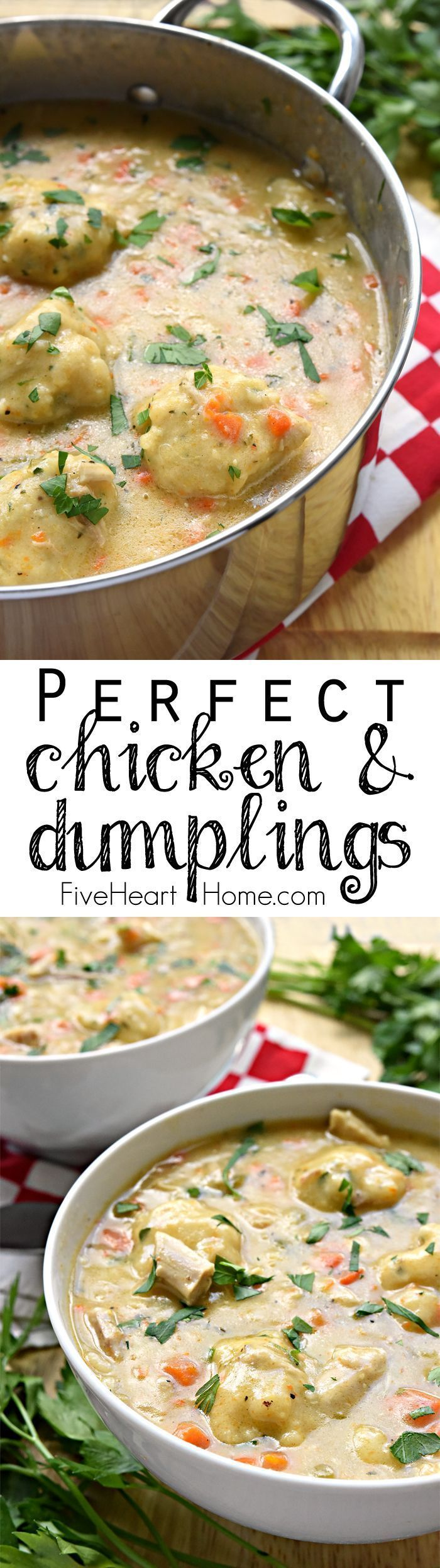 Homemade Chicken & Dumplings ~ a comfort food classic featuring flavorful broth …