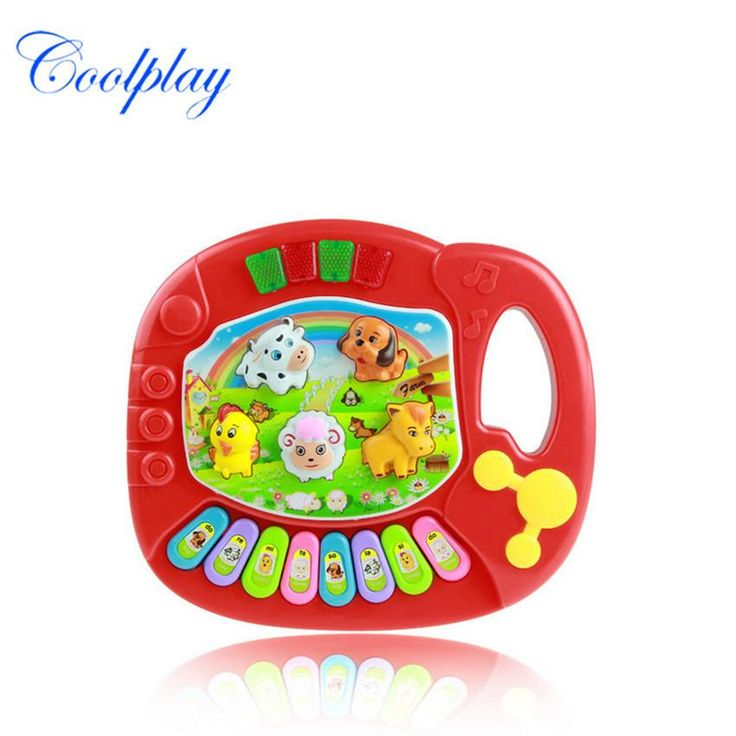 Coolplay 1 Pcs Plastic ABS Keyboard Musical Instrument Educational Battery Operated Infant Playing Type English Sound Gift Toy