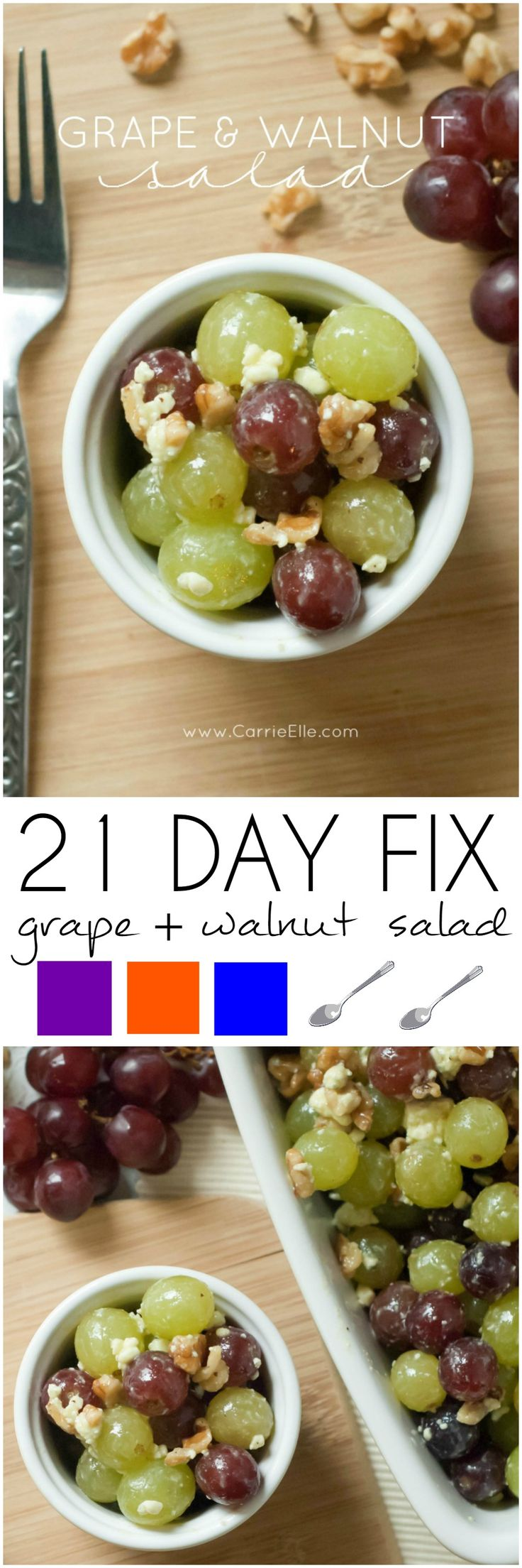 This Grape and Walnut salad is AMAZING...and 21 Day Fix friendly!
