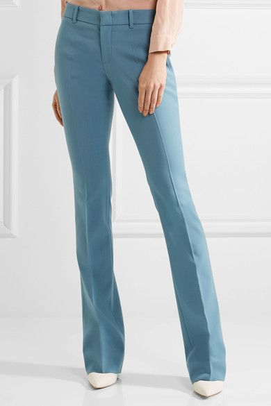 Gucci - Stretch-wool Flared Pants - Sky blue - IT48