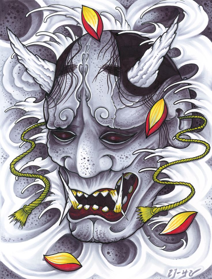 Hannya in Copic markers                                                                                                                                                                                 Mais